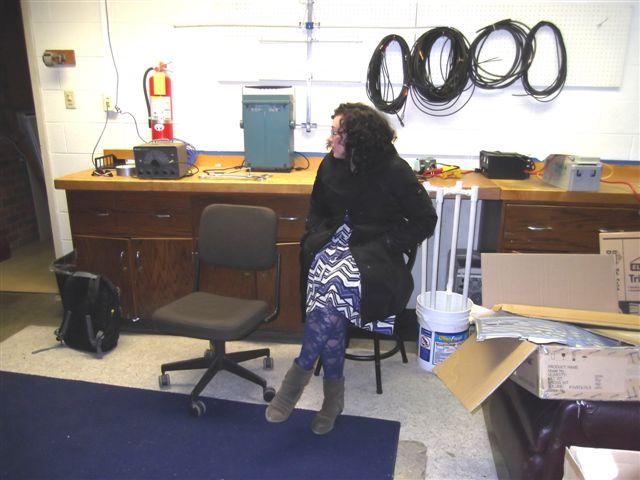 Becca at W4UVA workbench